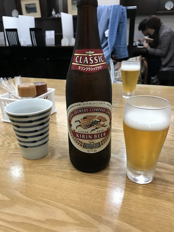 藤木庵でビールを