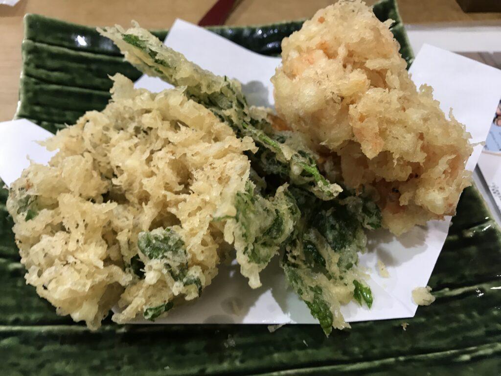 伊豆高原十割蕎麦処蕎仙メニュー天ぷら